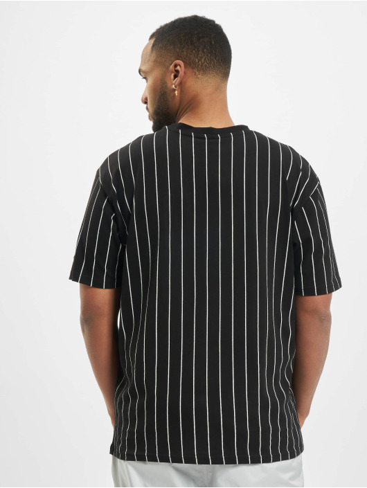 New Era T-Shirty NFL Pinstripe Left Logo Tee Las Vegas Raiders czarny