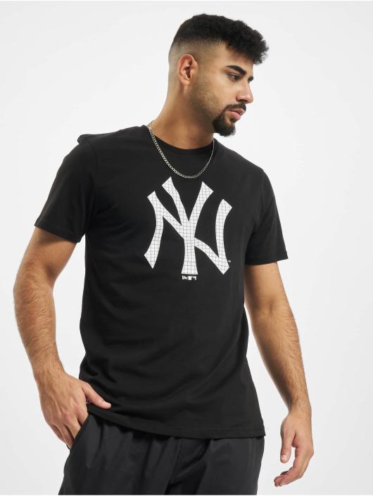 New Era T-Shirty MLB Infill Team Logo New York Yankees czarny