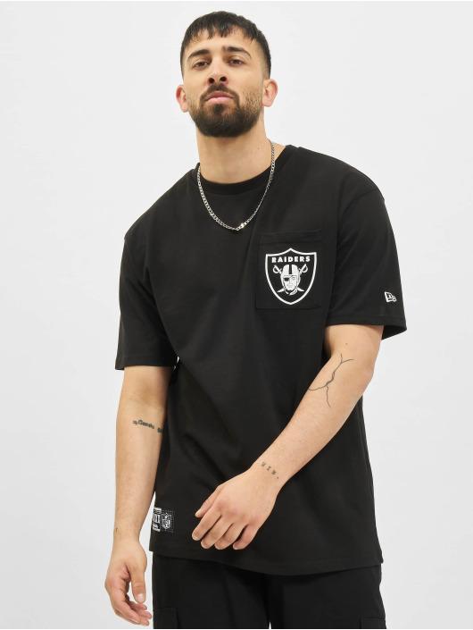 New Era T-Shirty NFL Las Vegas Raiders Box Logo czarny