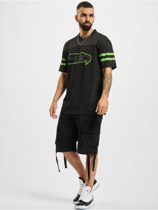 New Era T-Shirty NFL Seattle Seahawks Outline Logo Oversized czarny