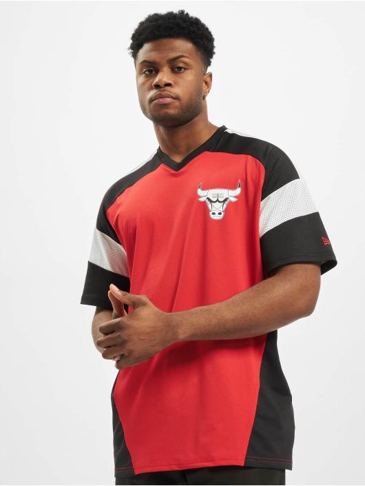 New Era T-Shirty NBA Chicago Bulls Diagonl Panel Oversized czerwony