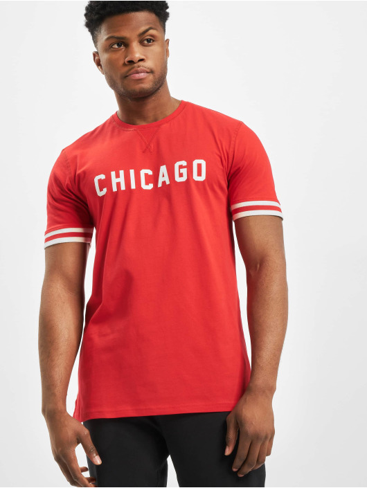New Era T-Shirty NBA Chicago Bulls Wordmark czerwony