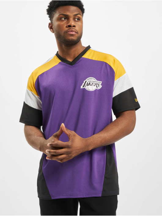 New Era T-Shirty NBA LA Lakers Diagonl Panel Oversized fioletowy