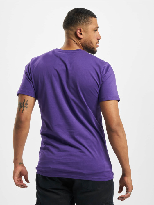 New Era T-Shirty NBA LA Lakers Square Logo fioletowy
