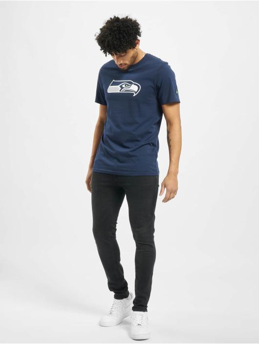New Era T-Shirty Team Logo Seattle Seahawks niebieski