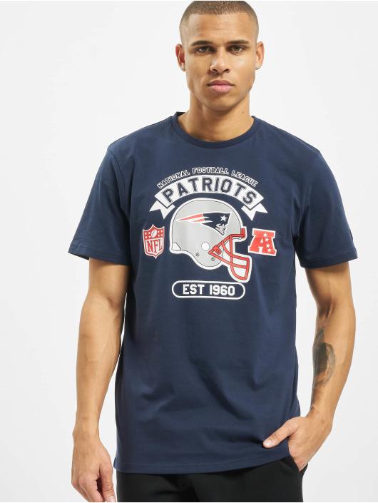 New Era T-Shirty NFL New England Patriots Graphic Helmet niebieski