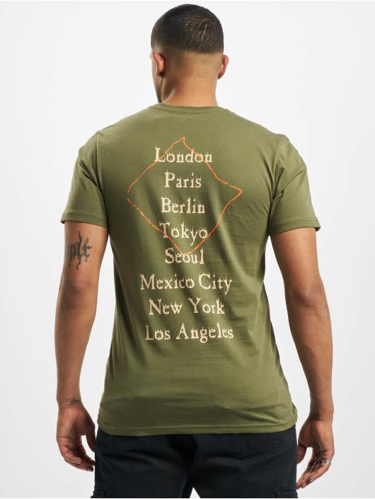 New Era T-Shirty World Tour oliwkowy