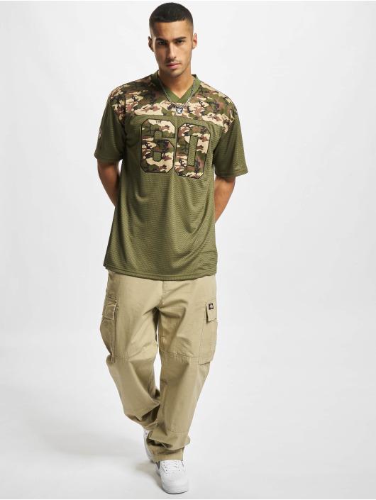 New Era T-Shirty NFL Las Vegas Raiders Camo Infill Oversized Mesh oliwkowy