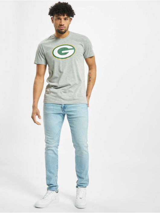 New Era T-Shirty Team Logo Green Bay Packers szary