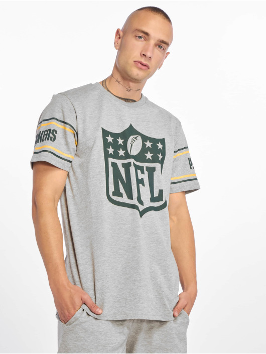 New Era T-Shirty NFL Green Bay Packers Badge szary