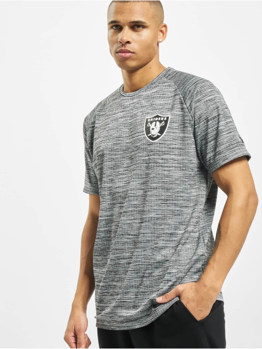 New Era T-Shirty NFL Oakland Raiders Engineered Raglan szary
