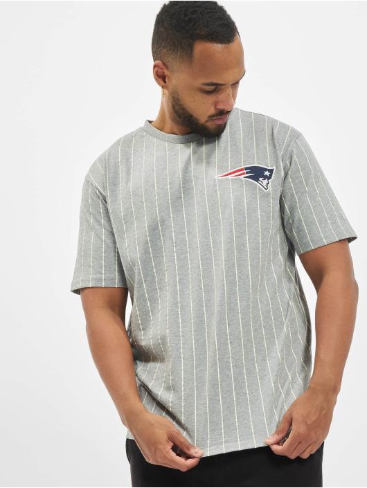 New Era T-Shirty NFL Pinstripe Left Logo New England Patriots szary