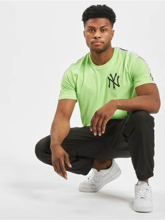 New Era T-Shirty MLB NY Yankees Sleeve Taping zielony