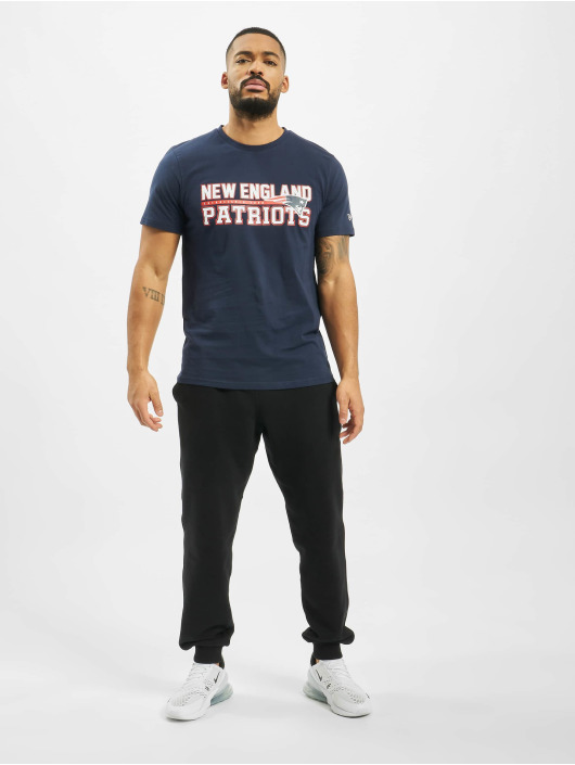 New Era T-skjorter NFL New England Patriots Stacked Wordmark blå