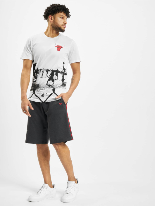New Era T-skjorter NBA Chicago Bulls Photo Prin hvit