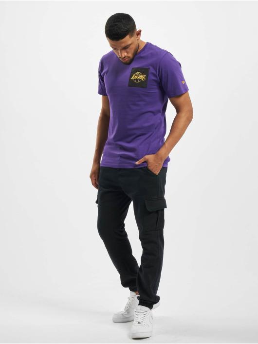 New Era T-skjorter NBA LA Lakers Square Logo lilla