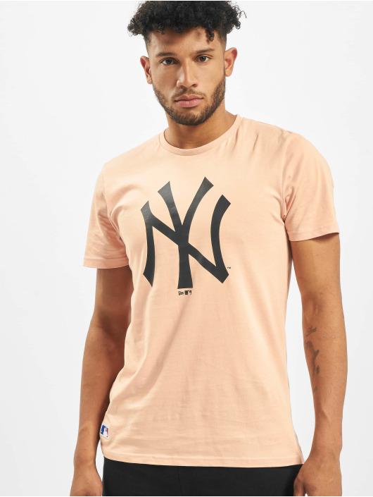 New Era T-skjorter MLB NY Yankees Seasonal Team Logo rosa