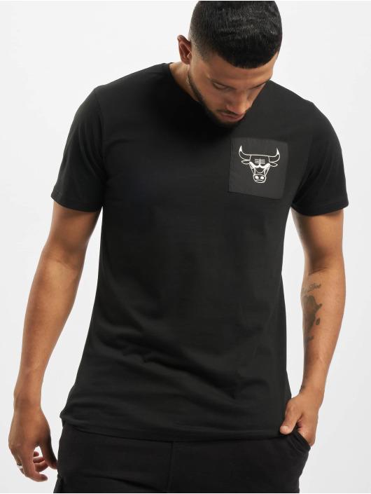 New Era T-skjorter NBA Chicago Bulls Square Logo svart