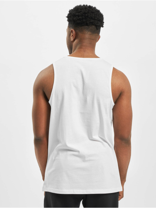 New Era Tank Tops Patch Pack Printed Logo bialy