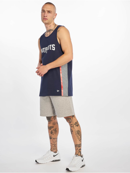 New Era Tank Tops NFL New England Patriots Mesh Print blue