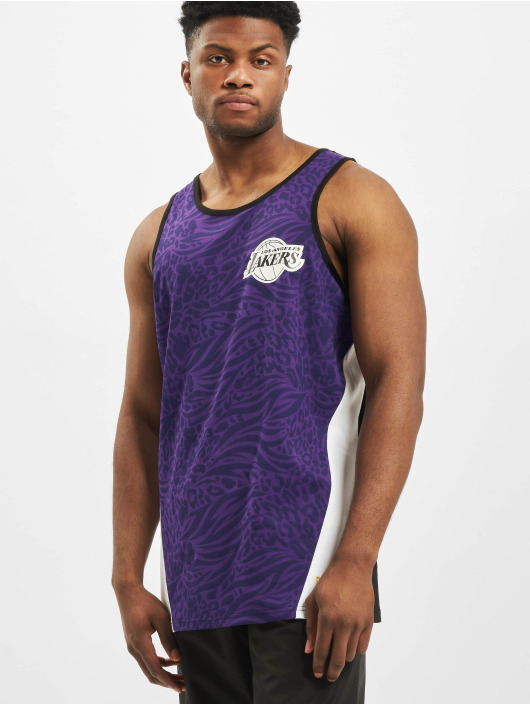 New Era Tank Tops NBA LA Lakers AOP fioletowy
