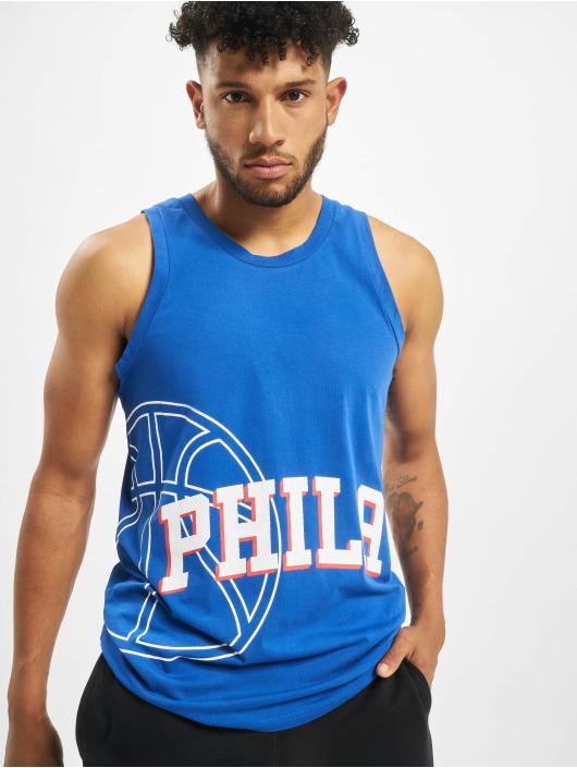 New Era Tank Tops NBA Philadelphia 76ers Basketball Graphic niebieski