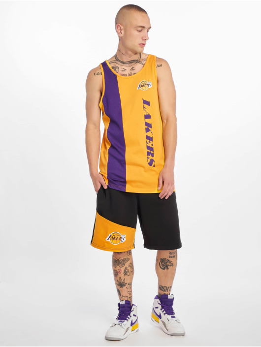 New Era Tank Tops NBA Los Angeles Lakers Team Wordmark zloty
