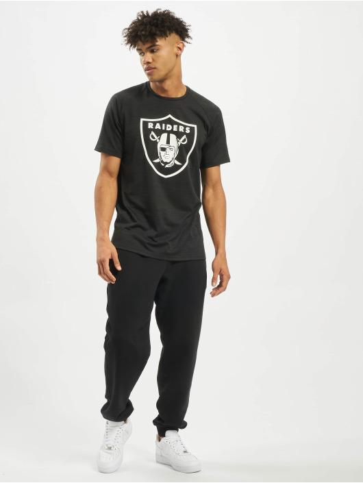 New Era Tričká NFL Oakland Raiders Engineered Raglan èierna
