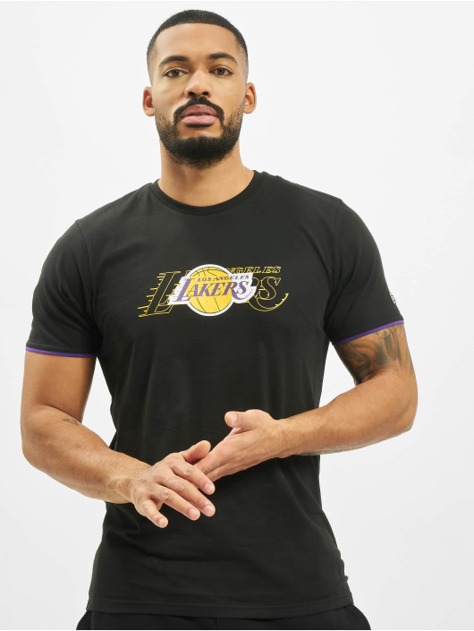 New Era Tričká NBA LA Lakers Graphic èierna