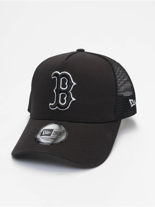 New Era Trucker Mlb Properties Boston Red Sox Tonal Mesh èierna
