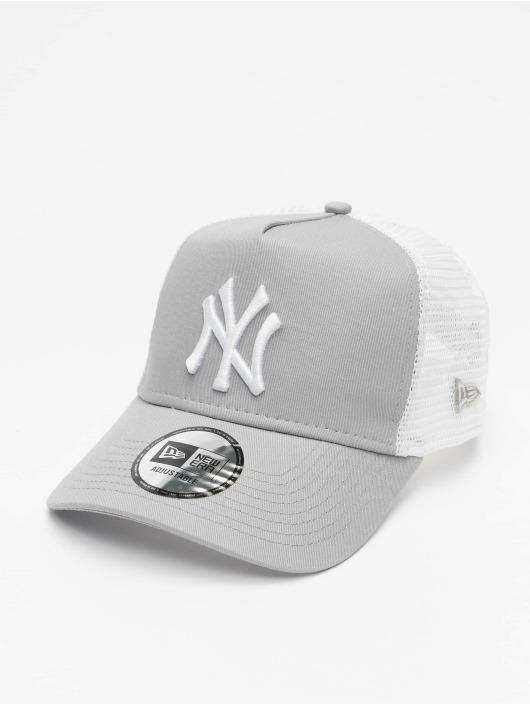 New Era Trucker MLB NY Yankees Clean šedá