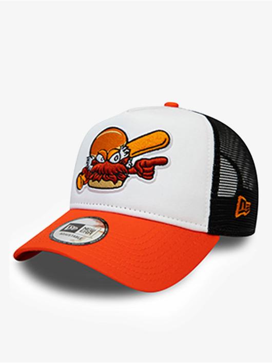 New Era Trucker Cap Minor League Charlotte Knights arancio