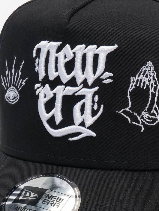 New Era Trucker Cap Script 9forty A-Frame black