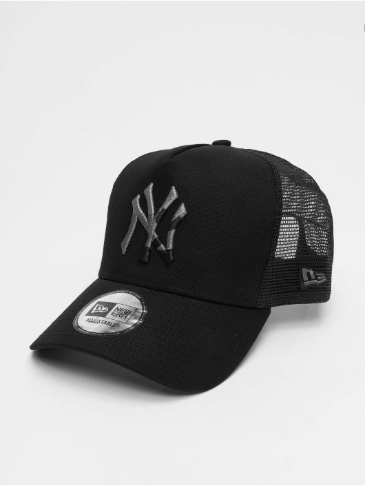 New Era Trucker Cap MLB New York Yankees Camo Infill 9forty A-Frame black