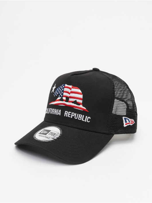New Era Trucker Cap Canvas Cali black