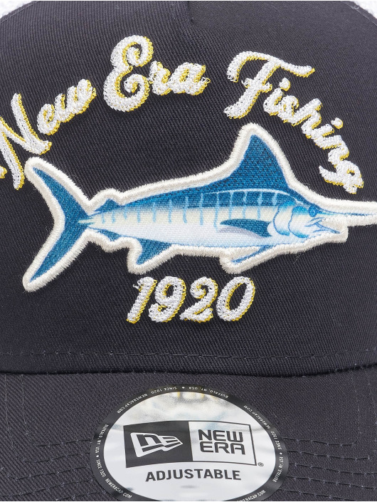 New Era Trucker Cap NE Fishing blue