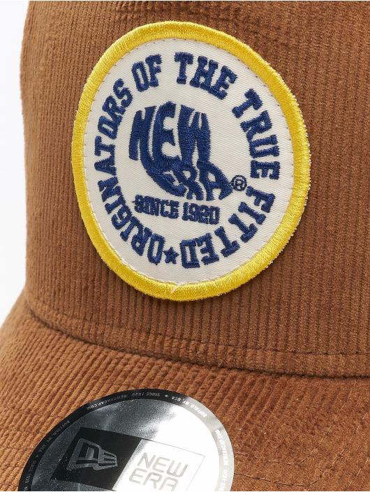 New Era Trucker Cap Fabric Patch braun
