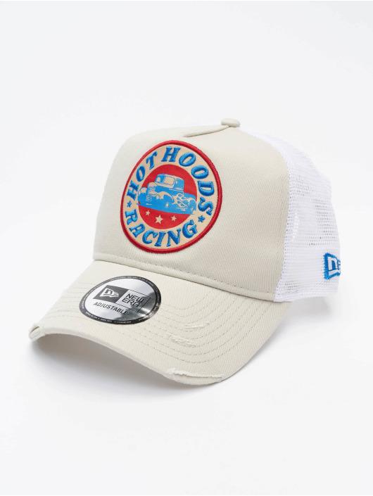 New Era Trucker Cap Race Patch 940 AF grau