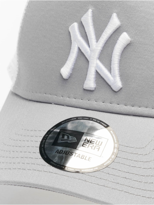 New Era Trucker Cap MLB NY Yankees Clean gray