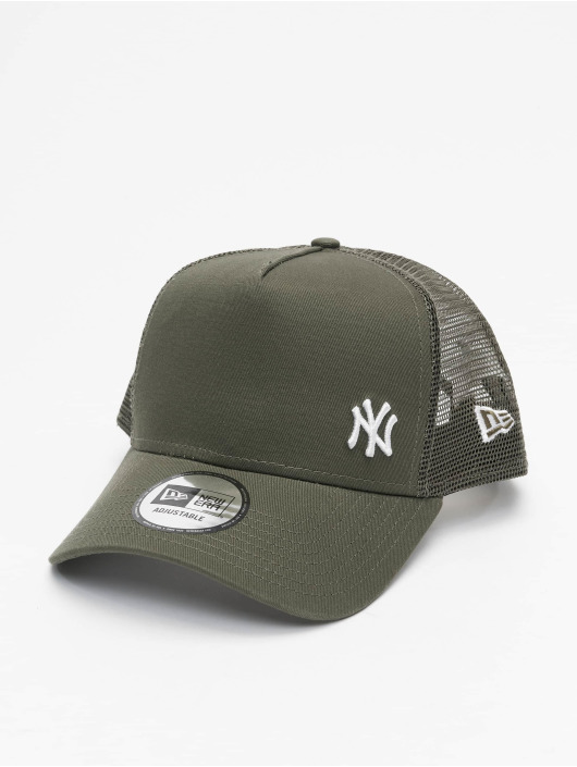 New Era Trucker Cap MLB NY Yankees Flawless green