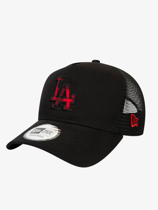 New Era Trucker Cap MLB Los Angeles Dodgers Check Infill 9Forty AF nero