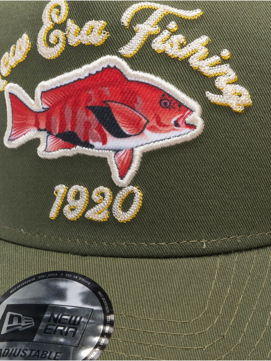 New Era trucker cap NE Fishing 9Forty olijfgroen