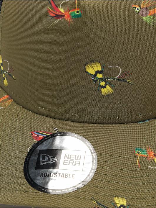 New Era Trucker Cap All Over Print Fishing 9Forty AF oliva