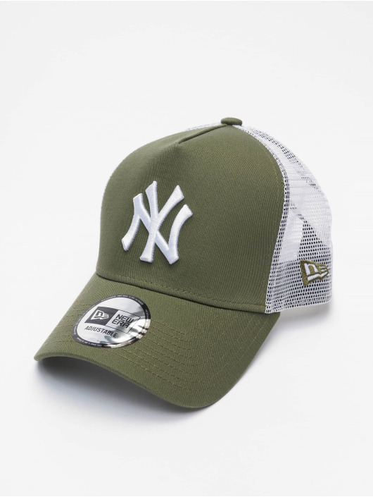 New Era Trucker Cap MLB New York Yankees League Essential 940 AF olive
