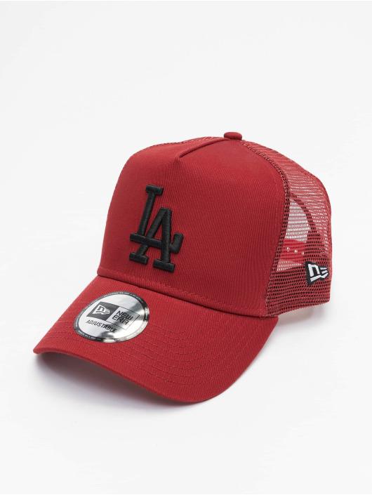 New Era Trucker Cap MLB Los Angeles Dodgers League Essential rosso