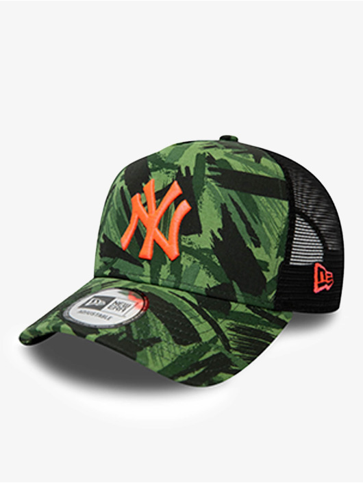 New Era Trucker Cap MLB New York Yankees Seasonal Camo 9Forty AF verde