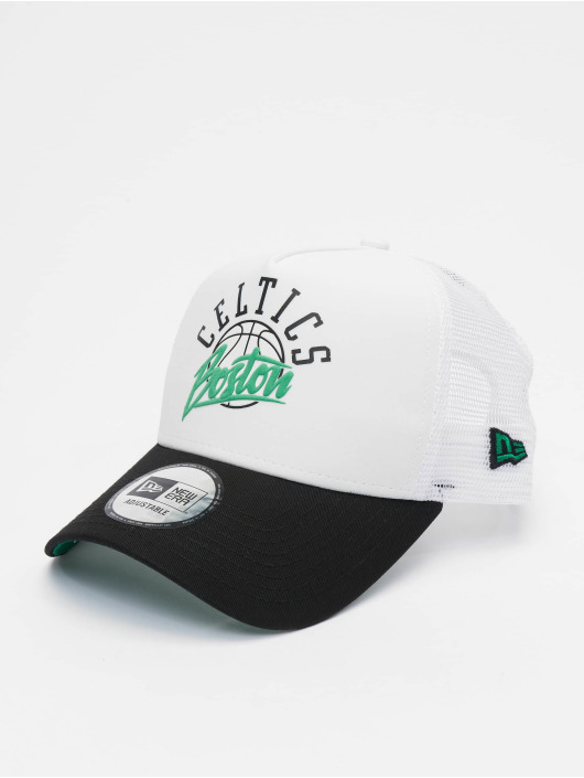 new style 025fa 6728a New Era trucker cap NBA Boston Celtics Neoprene 9forty A-Frame wit