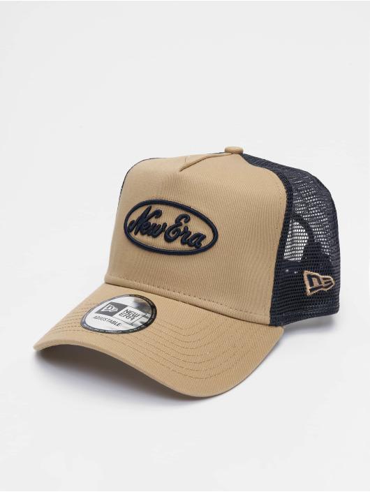 New Era Trucker Caps Oval Script 9forty A-Frame beige