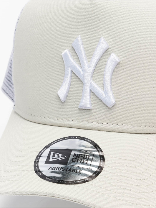 New Era Trucker Caps MLB NY Yankees League Eshortsleevee beige