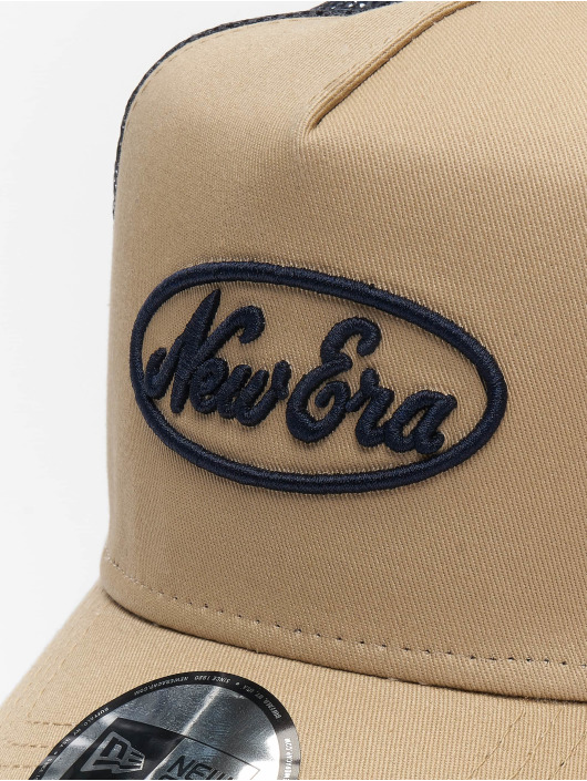 New Era Trucker Caps Oval Script 9forty A-Frame bezowy